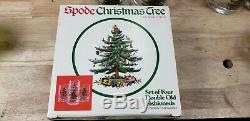 11 VTG Spode Christmas Tree Double Old Fashioned Glasses
