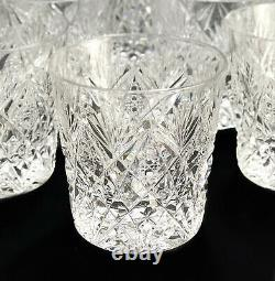 12 Saint (St) Louis France Glass Florence Pineapple Double Old Fashioned Goblets
