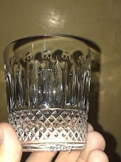 12 St Louis Crystal Tommy pattern Double Old Fashioned Glasses In Box