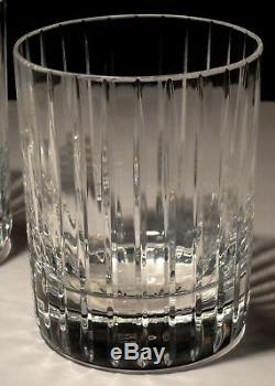 2 BACCARAT CRYSTAL HARMONIE #2 DOUBLE OLD FASHIONED TUMBLERS 4 1/8 12 oz
