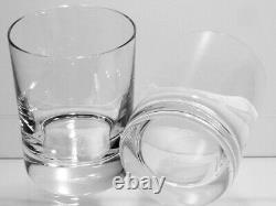 2 Baccarat Crystal Perfection Double Old Fashioned Tumbler Glasses Signed 4 1/8