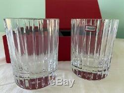 2 Baccarat Double Old Fashioned Harmonie Glasses Height 4 1/8 Width 3 1/4