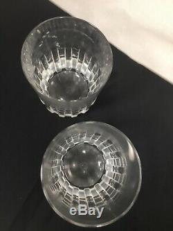 (2) Baccarat ROTARY Double Old Fashioned Glass / Tumbler Multiples