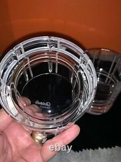 2 CHRISTOFLE Crystal DOUBLE OLD FASHIONED SCOTTISH Glasses