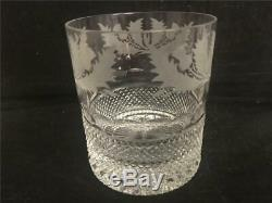 2 Edinburgh Crystal Thistle Pattern Double Old Fashioned Glasses