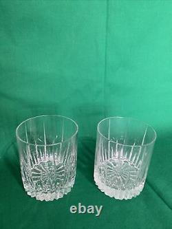2 Mikasa Arctic Lights Modern Double Old Fashioned Glasses AK