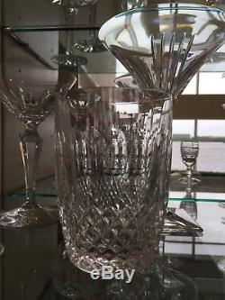 2 VINTAGE WATERFORD CRYSTAL COLLEEN DOUBLE OLD FASHIONED 12 oz. GLASSES 4 3/8