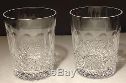2 Vintage Waterford Crystal Colleen Double Old Fashioned 12 Ounce Glasses 4 3/8
