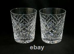 2 Waterford Crystal 4 1/4 DOF Double Old Fashioned Comeragh old mark QTY Avail