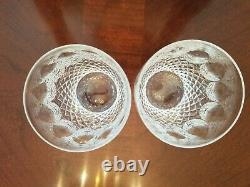 2 Waterford Crystal Colleen 4 3/8 Double Old Fashioned (10 Oz)Tumblers Pristine