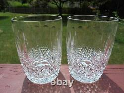 2 Waterford Crystal Colleen Double Old Fashioned Tumblers 4 7/16