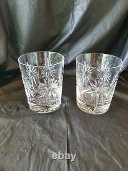 2 Waterford Crystal Congratulations Double Old Fashioned Tumblers