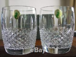 2 Waterford Crystal GLENMEDE Double Old Fashioned DOF, New in Box, PAIR