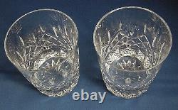 2 Waterford Lismore Double Old Fashioned Dof Glasses Mint Condition 4 1/4