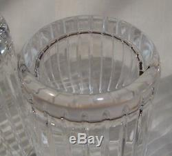 3 Baccarat French Crystal Harmonie Double Old Fashioned Tumbler glasses signed
