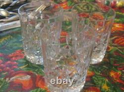 3 Waterford Crystal Lismore Pattern Double Old Fashioned Glasses EUC