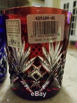 4 Ajka Marsala Double Old Fashioned Rocks Whiskey Glasses Tumblers New Essex