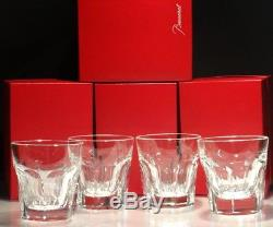 4 Baccarat Crystal Harcourt Double Old Fashioned Tumbler Glasses 4 3/8 16 Oz