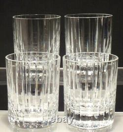 4 Baccarat Crystal Harmonie Double Old Fashioned Tumbler Glasses 4