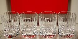 4 Baccarat Crystal Harmonie Double Old Fashioned Tumbler Glasses In Box 4 1/8