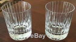 4 Baccarat Double Old Fashioned Harmonie Glasses Height 4 1/8 Width 3 1/8