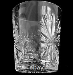 4 Double Old Fashioned Tumblers / Glasses Star of Edinburgh Crystal