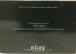 4 Double Old fashioned Tumblers Glass 4.25 Lead Crystal Ralph Lauren Herringbone