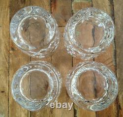 4 Lot Lenox Crystal Charleston Double Old Fashioned Glasses Set 4 Mint