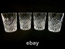 4 Matching Waterford Crystal Double Old Fashioned Glasses. Ciara. 2002-06