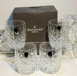 4 New Waterford Araglin Double Old Fashioned Glasses In Box Made In Ireland