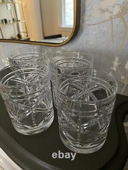 4 Qty Ralph Lauren Brogan Double Old Fashioned Glasses, Set of 4