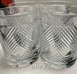 4 Ralph Lauren Argyle 11.1 Oz. Double Old Fashioned Glasses Brand New In box