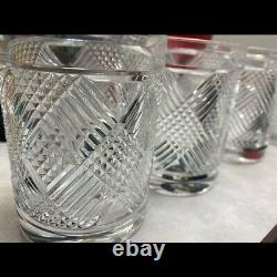 4 Ralph Lauren Argyle Plaid Double Old Fashioned Tumblers IN BOX
