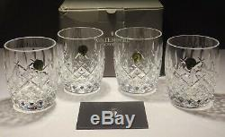 4 Rare Waterford Araglin Double Old Fashioned Tumblers New Made In Ireland