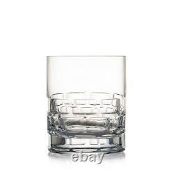 4 Rogaska Crystal Maison Double Old-Fashioned Whisky Glasses 12 oz