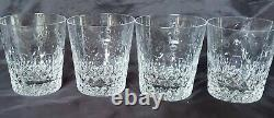 (4) Rogaska Gallia Crystal 4 Double Old Fashioned Glasses Great Condition