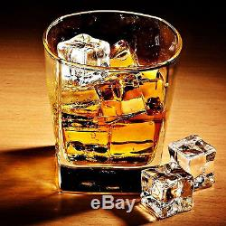 4 Set Whisky Scotch Glasses Square Double Old Fashioned Whiskey Drinking Glass