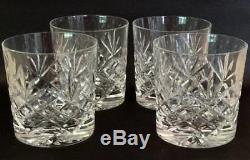 4 Thomas Webb Double old fashioned whiskey tumblers Cut Crystal Glasses ABP