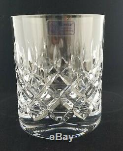(4) Towle Crystal KING RICHARD Double Old Fashioned Glasses 3 7/8, withLabels Exc