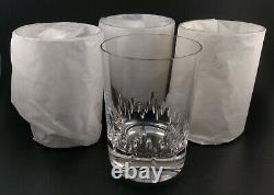 4 Vera Wang Duchesse Crystal Double Old Fashioned Tumbler Rocks Glasses NIB