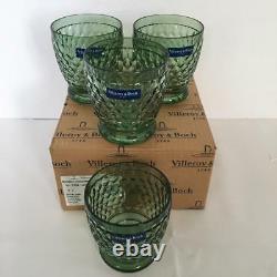 4 Villeroy & Boch GobletTumblerDouble Old Fashioned Goblets NIB