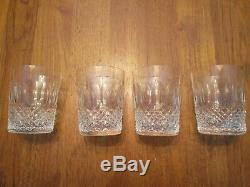 4 Vintage Waterford Colleen 14 oz Double Old Fashioned Glasses Tumblers