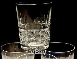 4 Vintage Waterford Crystal Kylemore Double Old Fashioned Tumbler Glass 4 3/8