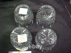 4 WATERFORD LISMORE DOUBLE OLD FASHIONED 14oz TUMBLERS / GLASSES NEW IN BOX