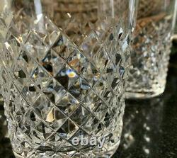 4 Waterford Crystal Alana 4 3/8 Double Old Fashioned Tumblers Ireland Excellent