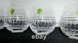 4 Waterford Crystal Double Old Fashioned Rolly Polly Glasses New Wat141