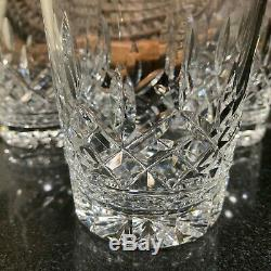4 Waterford Crystal Lismore 4 3/8 Double Old Fashioned Glasses 12 oz Pristine
