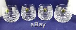 4 Waterford Crystal Seahorse Double Old Fashioned DOF set of 4