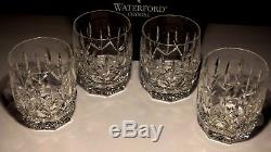 4 Waterford Crystal Westhamton Double Old Fashioned Glasses In Box