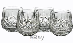 4 Waterford LISMORE ROLY POLY DOUBLE OLD FASHIONED GLASSES NEW
